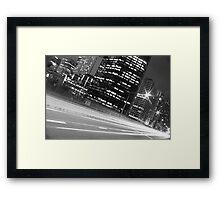 SYDNEY STREEEET LIGHTS B&W Framed Print