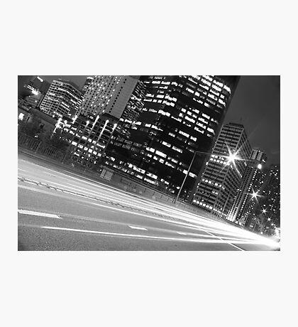 SYDNEY STREEEET LIGHTS B&W Photographic Print