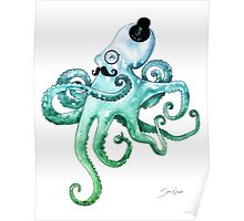 Monocle Octopus Poster