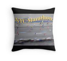 NYC Marathon Throw Pillow