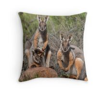 Yellow footed family Throw Pillow