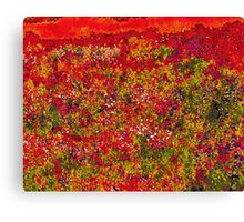 Wild Flower Field Painting Canvas Print