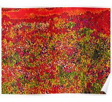 Wild Flower Field Painting Poster