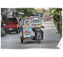 A tricycle in the Philippines Poster