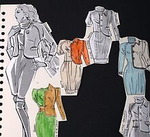 jackets and dresses research by Becky Deary