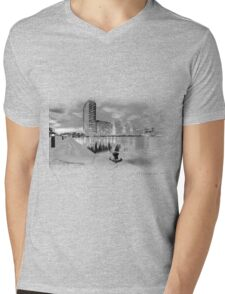 There and Here Mens V-Neck T-Shirt