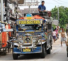 A jeepney in the Visayas by Henk van Kampen