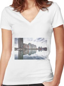 Over and Out Women's Fitted V-Neck T-Shirt