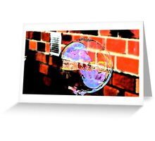 Psychedelic Bubble  Greeting Card