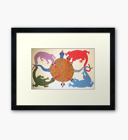 Weaving Web Framed Print