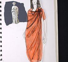 dresses & Greek Figures by Becky Deary