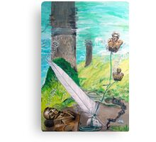 The feather and the Word Canvas Print