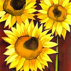 3 Sunflowers by Chris  Sowels