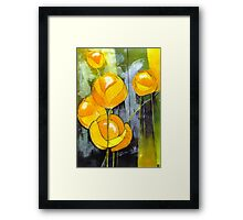 Globeflowers Framed Print
