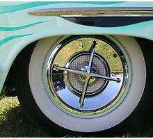Vintage Car Wheel Photographic Print
