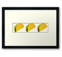 Taco Emoji  Framed Print