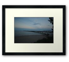 Full Moon over Urangan Pier  Framed Print