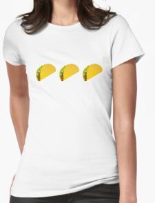 Taco Emoji  Womens Fitted T-Shirt