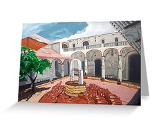 Patio Colonial Greeting Card
