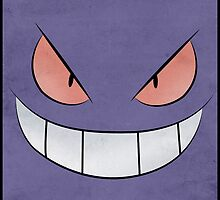 Gengar Face - Pokemon Art Poster Minimal by Jorden Tually