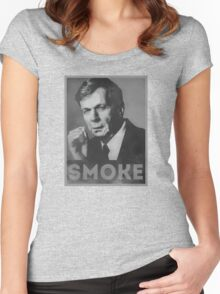 Smoke! Funny Obama Hope Parody (Smoking Man)  Women's Fitted Scoop T-Shirt