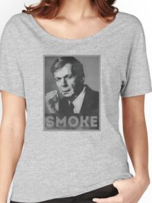Smoke! Funny Obama Hope Parody (Smoking Man)  Women's Relaxed Fit T-Shirt