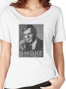 Smoke! Funny Obama Hope Parody (Smoking Man)  Women's Relaxed Fit T-Shirt