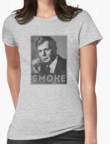 Smoke! Funny Obama Hope Parody (Smoking Man)  Womens Fitted T-Shirt