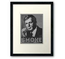Smoke! Funny Obama Hope Parody (Smoking Man)  Framed Print