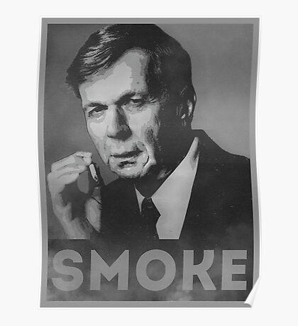 Smoke! Funny Obama Hope Parody (Smoking Man)  Poster
