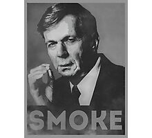 Smoke! Funny Obama Hope Parody (Smoking Man)  Photographic Print
