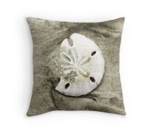 Sand Dollar Shell Throw Pillow