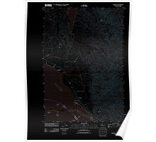 USGS Topo Map Washington State WA Chinook 20110818 TM Inverted Poster