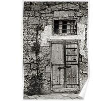 Doorway, The Sassi Quarter, Matera, Basilicata, Italy Poster