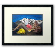 Childbirth Camp Framed Print