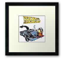 Back To The Banana Future Framed Print