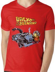 Back To The Banana Future Mens V-Neck T-Shirt