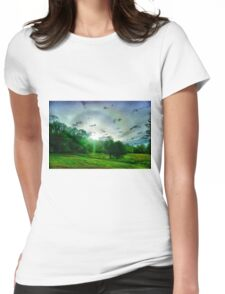 Heavenly landscape Womens Fitted T-Shirt
