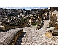 Via Muro, Matera, Basilicata, Italy Photographic Print