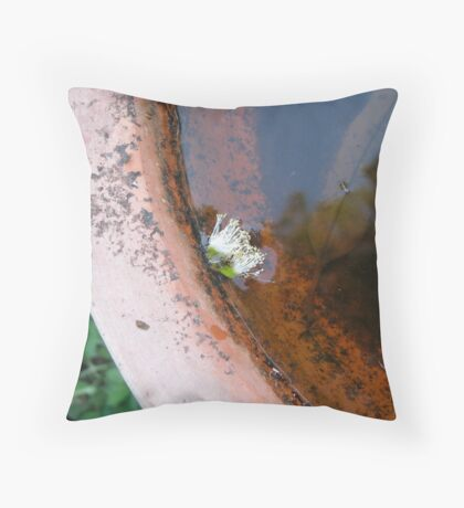 Tree in my bird bath Throw Pillow