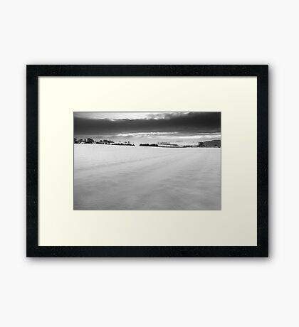 A Distant Chime BW Framed Print