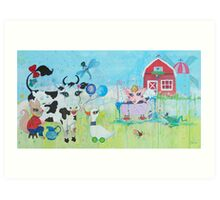 Once Upon a Barn Art Print