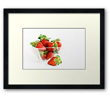 Yummy Strawberries Framed Print