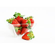 Yummy Strawberries Photographic Print