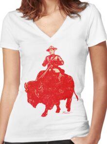 Border Patrol - Canada / Buffalo Women's Fitted V-Neck T-Shirt