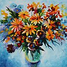 WINTER ARRANGEMENT - LEONID AFREMOV by Leonid  Afremov