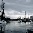 Storm Brewing - Barcelona Dock by Alexandra Sollers