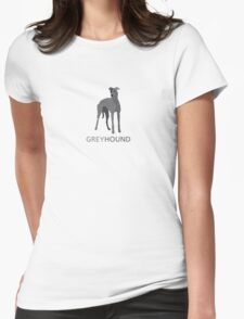 Grey retired racing greyhound Womens Fitted T-Shirt