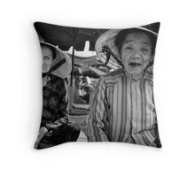 Market Traders, Hoi-An, Vietnam Throw Pillow