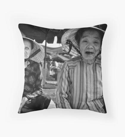 Market Traders, Hoi-An, Vietnam Throw Pillow
